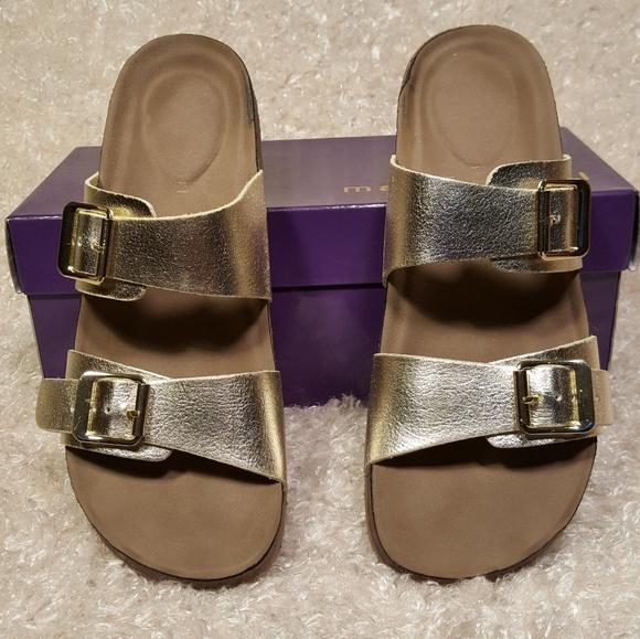 3d22d1f9e814 Madden Girl Shoes - Madden Girl Gold Paris Brando Sandals